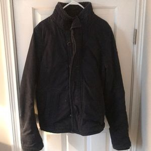 Men's Abercrombie and Fitch navy blue Coat